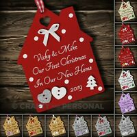 Personalised First 1st Christmas in Your / Our New Home tree Bauble House gift