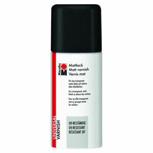 (100ml = 4.66 EUR) Farbloses Mattlack-Spray Marabu 150ml wetterfeste Fixierung