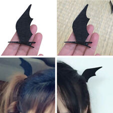 2Pcs Girls Hair Clip Bat Ear Halloween Black Devil Wings Cosplay Dress up