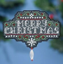 Mill Hill Beads Cross Stitch Kit with Magnet ~ CHALKBOARD CHRISTMAS #18-1634