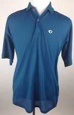 PEARL IZUMI CYCLING POLO VENTED MESH POLYESTER SHIRT MENS XL BLUE MADE IN USA