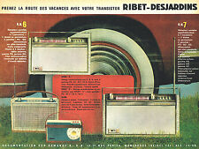 PUBLICITE ADVERTISING 025  1961  RIBET-DESJARDINS   transistors
