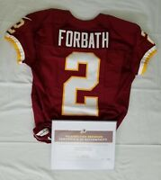 #2 Kai Forbath of Redskins NFL Game Worn & Unwashed Jersey vs. Eagles With COA