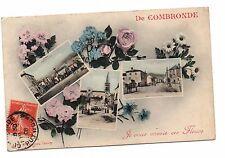 63 - cpa - De COMBRONDE, je vous envoie ces fleurs  ( i 9315)