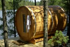 2-4 persoons Barrel Sauna Red Ceder Clear Made in Canada