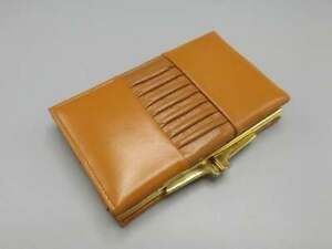 Wallet in Brown Leather 'Best Cowhide' Real Leather Vintage Coin Purse Tan Brown