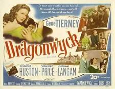 DRAGONWYCK Movie POSTER 22x28 Half Sheet Gene Tierney Walter Huston Vincent