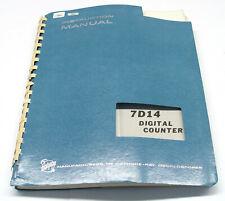 Tektronix 7D14 Digital Counter, Instruction Manual, Bedienung & Service, 7000er