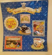 Mary Engelbreit Time for Tea Teapot Refrigerator Magnets Set New Michel & Co