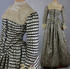 Antique Victorian 1889 silk day dress Marshall Field label