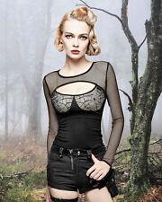 Gothic Nugoth Shirt Top Bluse Cobweb Victorian Vampir Punk Rave Netz M L XL XXL