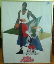 Vintage Hare Jordan Space Jam Nike Poster Bugs Bunny 1992 16 x 20 in Frame