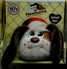 🔥Pound Puppies - Classic 80's Newborns TAN w/ BROWN EARS Adopt HASBRO Basic Fun