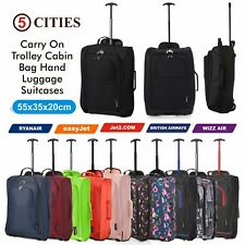 "Lightweight Small 21"" Wheeled Hand Luggage Trolley Cabin Bag Flight Bag Suitcase"
