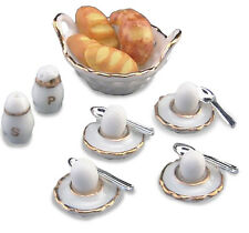 REUTTER PORZELLAN frühstückseier petit-déjeuner Eggs Maison de poupée 1:12 art.
