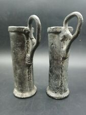 More details for 2 antique early 19th century solid lead vessels/jugs for handling acid  unusual