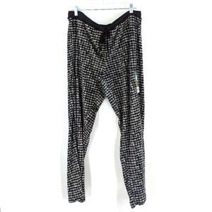 Secret Treasures Super Soft Pajama Pants XL 16/18 Womens Black White Fuzzy Cozy