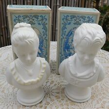Vintage Avon SONNET Cologne Box 18th Century Classic Figurine Young Girl Boy
