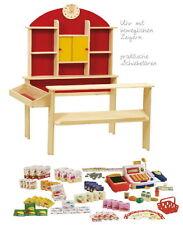 Roba Kaufladen mit Zubehör 156 tlg. Kaufmannsladen aus Holz Verkaufsladen
