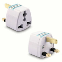 Euro European Converter EU 2 to 3 Pin Plug UK Travel Mains Power Adaptor