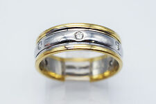 Novell 14K Yellow Gold & Platinum Wedding Ring with 0.24 Ct Round Diamonds #1245
