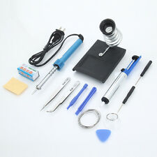 14in1 Electric 110V 30W Rework Solder Soldering Iron Tools Kit w/ Desolder Pump