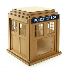 Dr. Who Tardis Cardboard Cat House