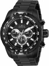 New Invicta 50mm Speedway Military Black Combat Quartz Chronograph Braclet Watch