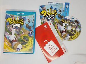 Rabbids Land - Wii U - Nintendo - Boxed - Complete With Club Nintendo CODE
