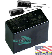 Kitchenaid Refrigerator  Repair Kit, Omron G5Q-14-EU-12DC,+ 220uF 63V  Capacitor