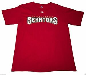 (M) Majestic Stephen Strasburg Harrisburg Senators Red Shirt Nationals Minors