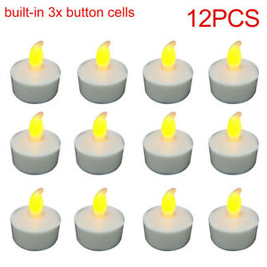 new 12pcs LED Tea Lights Candles Flameless Tealights Unscented Candle