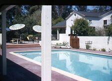 1950s Kodachrome 35mm photo slide House with Swimming pool San Bernardino CA
