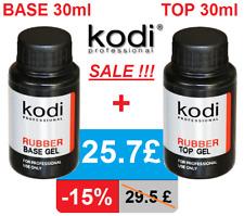 BASE + TOP 30ml. Kodi Professional Rubber. sale 15%! Gel nail LED/UV ORIGINAL