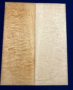 #321 Quilted Maple Drop Top Figured Tonewood Luthier Bookmatched set