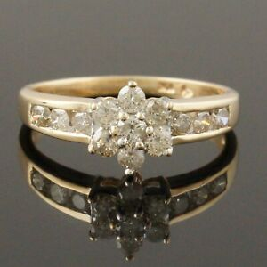 Two Tone Solid 10K Gold & .40 CTW Diamond Engagement, Wedding, Anniversary Ring