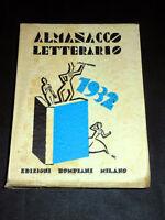 Letteratura Bibliografia - Almanacco Letterario 1932 - ed. Bompiani