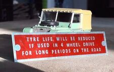 Land Rover Serie 1 80 86 88 107 Getriebe Reifen Life Warn Schott Teller