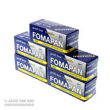 5 rolls of Fomapan 100. Black and White 120 Medium Format Camera Film. ISO 100