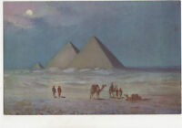 The Pyramids Moonlight Egypt 1928 Postcard US012