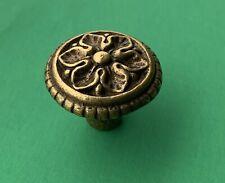 brass antique hardware vintage drawer pull Flower Cabinet knob French Provincial