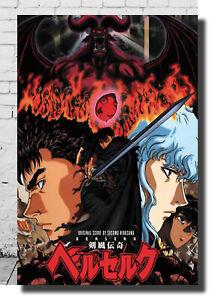 Y-377 New Fighting Berserk Kentaro Miura Japanese Anime Silk Poster Custom Print