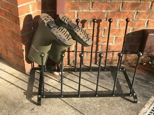 Wellington Welli Boot Rack Wrought Iron Traditional Handmade Quality Very Heavy