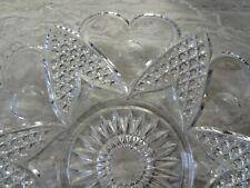 "Antique EAPG Pressed Glass Plate Hartford Heart Thumbprint 9 3/4"" dia"