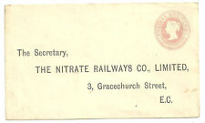 1D PINK ENVELOPE PREPRINTED ADDRESS NITRATE RAILWAYS CO LIMITED GRACECHURCH STR