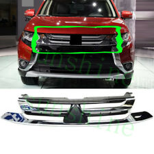 1x For Mitsubishi Outlander 2016 Front Bumper Bars Grille Chrome Protect ReRefit