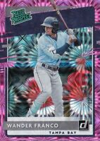 2020 DONRUSS PINK FIREWORKS PARALLELS RC WANDER FRANCO TAMPA BAY RAYS - H805