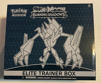 Pokemon Sun and Moon Burning Shadows Elite Trainer Box No Booster Packs