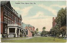 Campus View at Grove City PA Postcard 1915