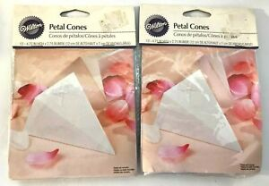 Wilton Petal Cones 2 packs 12, 24 total  4.75 x 2.75 For Wedding Party Deco New